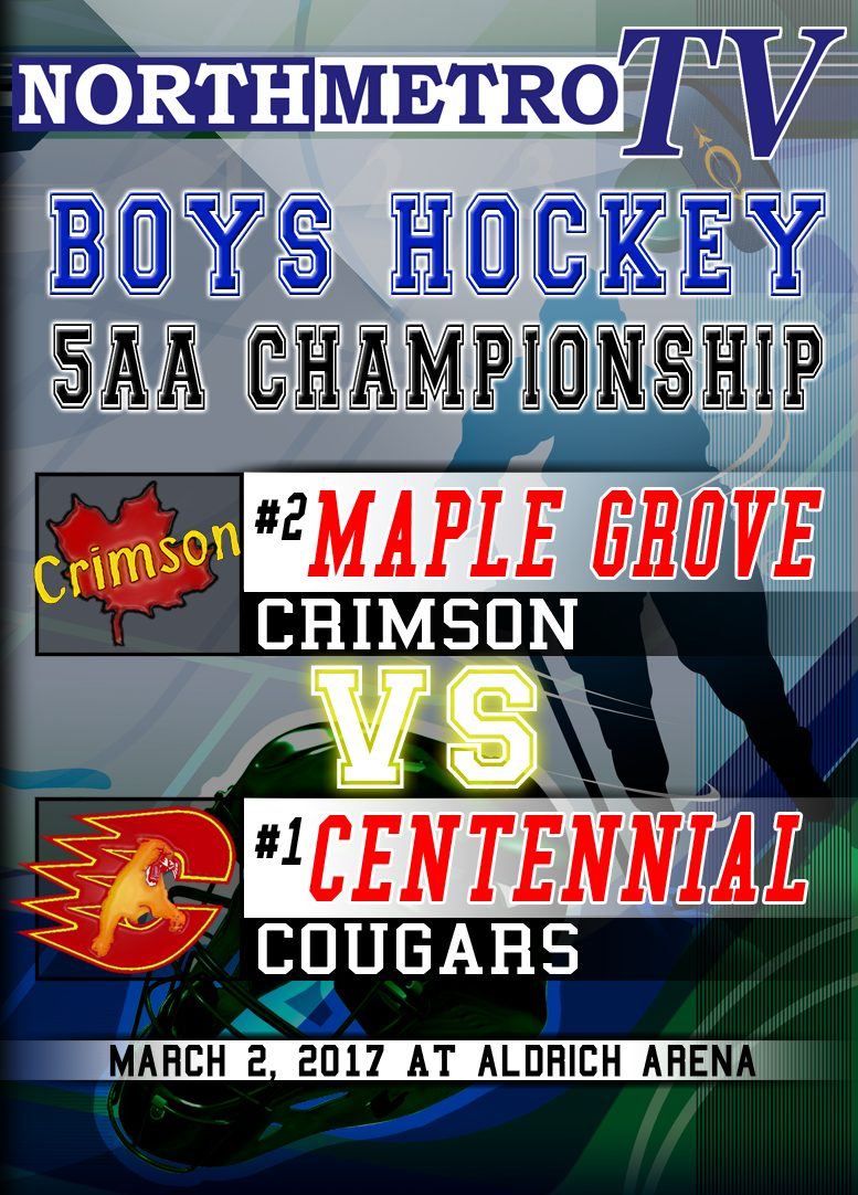 Boys Hockey: 3.2.17: 5AA Championship:  Maple Grove vs. Centennial